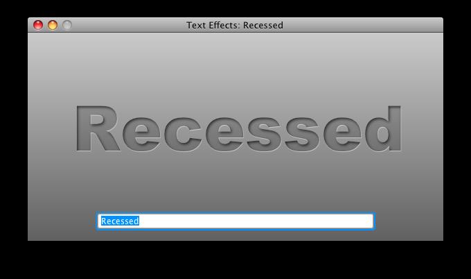 Recessed