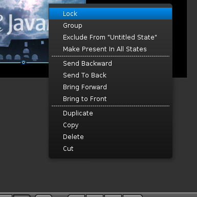 Menus as used in the Authoring Tool