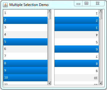 ListView Multiple Selection