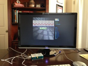 BrickBreaker running on a Raspberry PI