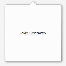 A PopOver with no content.