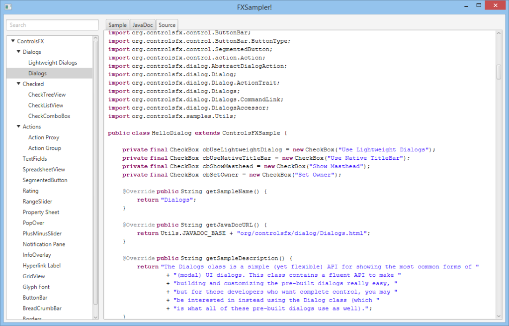 Source code in FXSampler